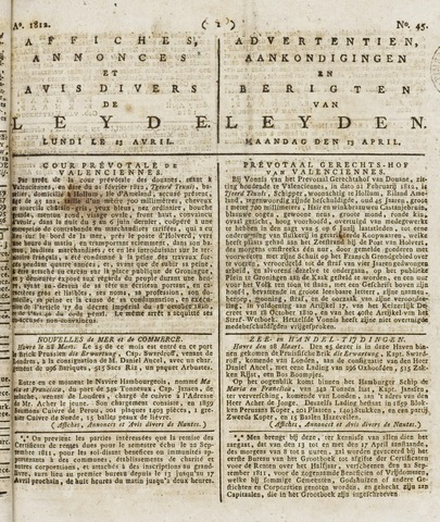Leydse Courant 1812-04-13