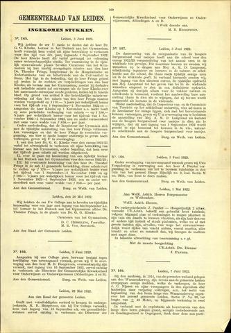 Handelingen van de Raad 1922-06-03