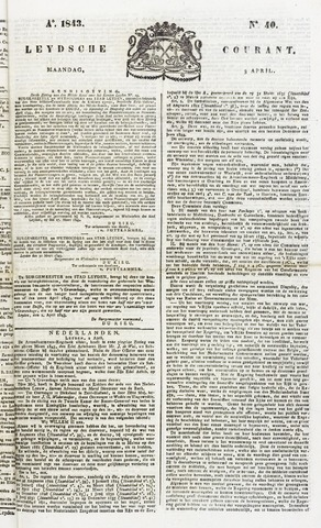 Leydse Courant 1843-04-03