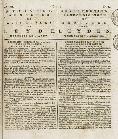 Leydse Courant 1812-08-05