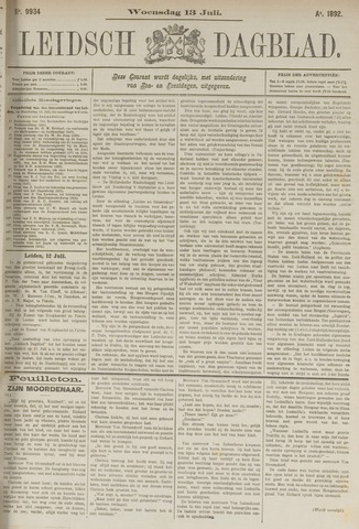 Leidsch Dagblad 1892-07-13