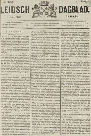 Leidsch Dagblad 1868-10-15