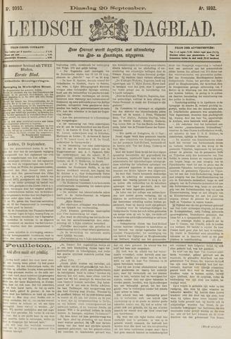 Leidsch Dagblad 1892-09-20
