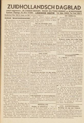 Zuidhollandsch Dagblad 1944-11-02