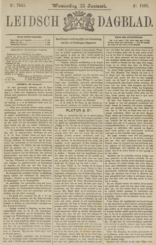 Leidsch Dagblad 1885-01-21