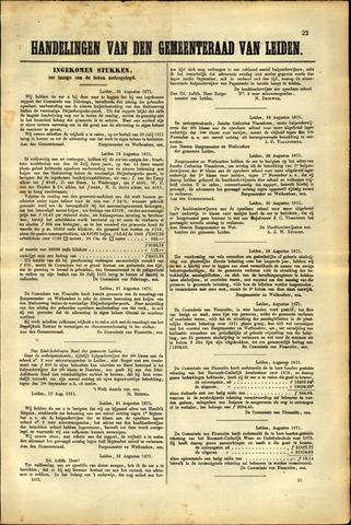 Handelingen van de Raad 1871-08-21
