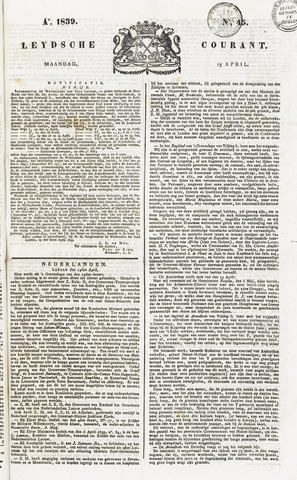 Leydse Courant 1839-04-15