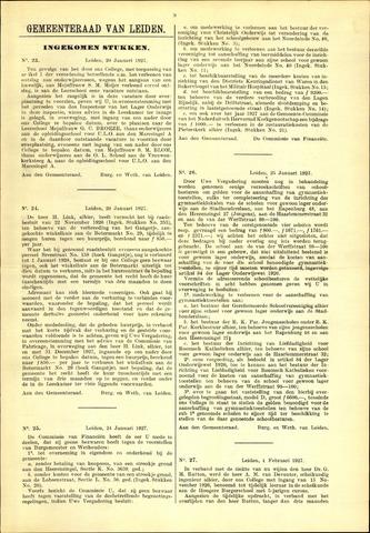 Handelingen van de Raad 1927-01-20
