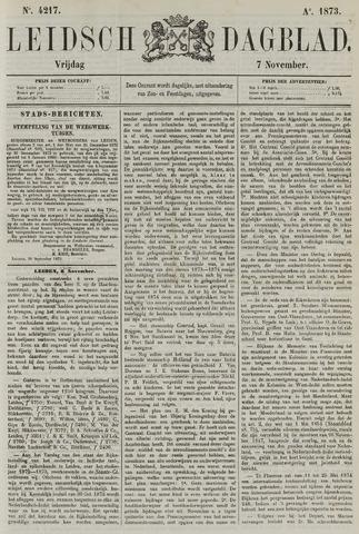 Leidsch Dagblad 1873-11-07