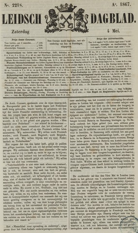 Leidsch Dagblad 1867-05-04