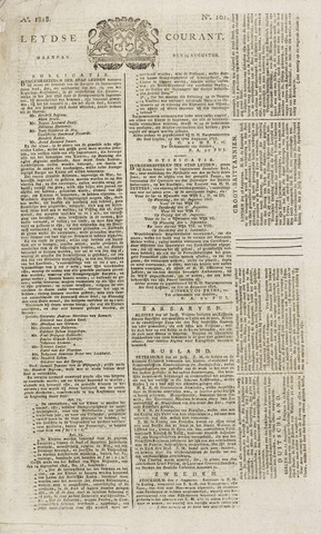Leydse Courant 1818-08-24
