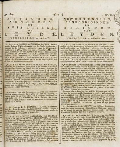 Leydse Courant 1812-08-21