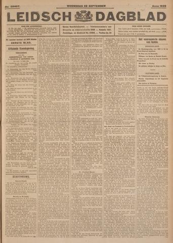 Leidsch Dagblad 1926-09-22