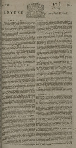Leydse Courant 1739-01-05