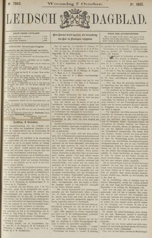 Leidsch Dagblad 1885-10-07