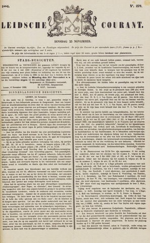 Leydse Courant 1884-11-25