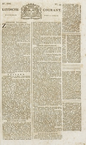 Leydse Courant 1826-04-12