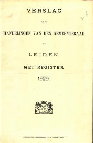 Handelingen van de Raad 1929-01-01