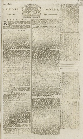 Leydse Courant 1817-11-03