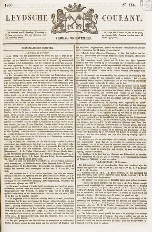 Leydse Courant 1860-11-30