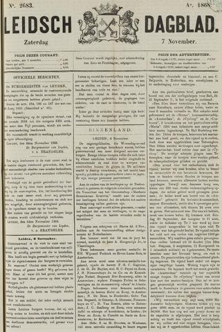 Leidsch Dagblad 1868-11-07