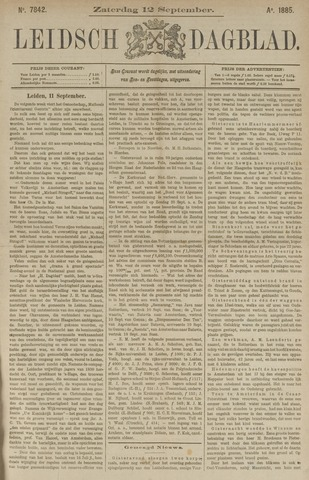 Leidsch Dagblad 1885-09-12