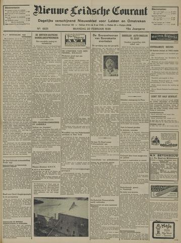 Nieuwe Leidsche Courant 1939-02-20