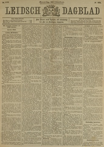 Leidsch Dagblad 1904-10-22