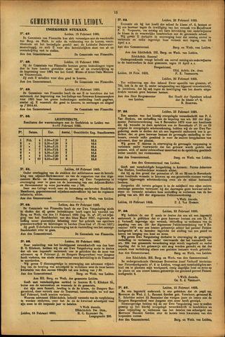 Handelingen van de Raad 1895-02-15