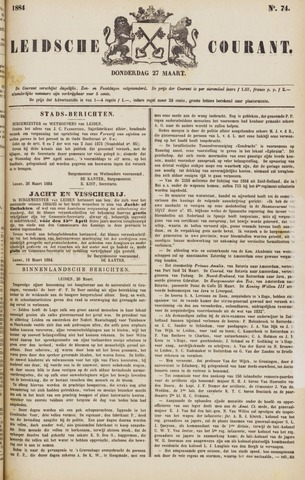 Leydse Courant 1884-03-27