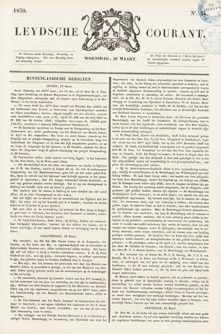 Leydse Courant 1850-03-20