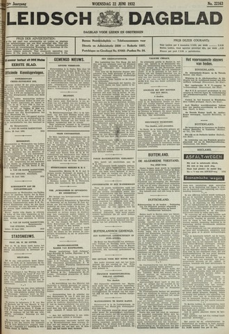 Leidsch Dagblad 1932-06-22