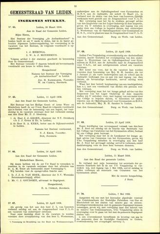 Handelingen van de Raad 1936-03-26