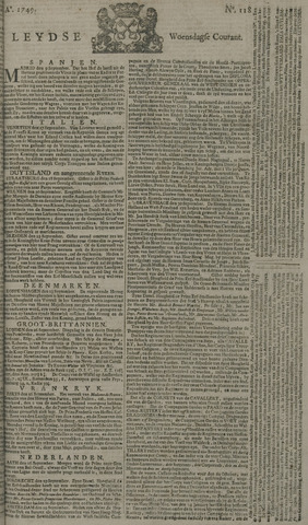Leydse Courant 1749-10-01