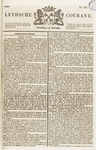 Leydse Courant 1860-10-31