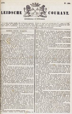Leydse Courant 1879-11-27