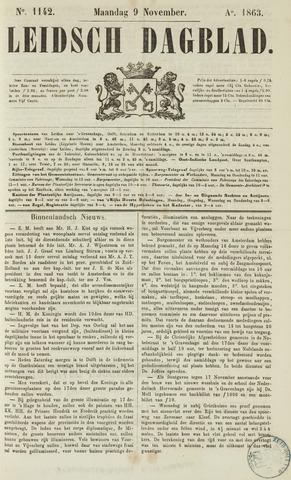 Leidsch Dagblad 1863-11-09
