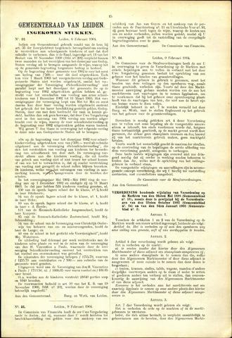 Handelingen van de Raad 1904-02-06