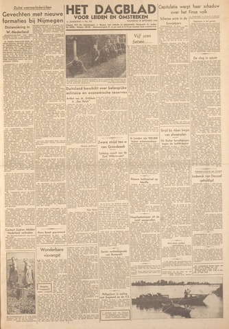 Dagblad voor Leiden en Omstreken 1944-09-25