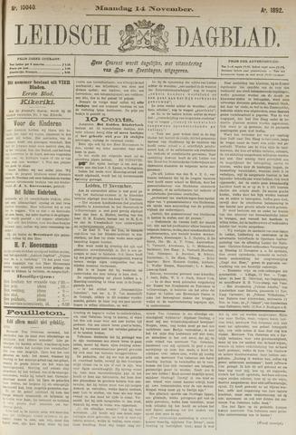Leidsch Dagblad 1892-11-14