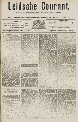Leydse Courant 1885-11-18