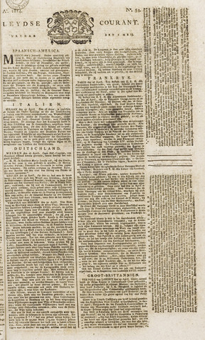 Leydse Courant 1814-05-06