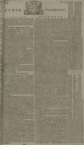 Leydse Courant 1749-08-27