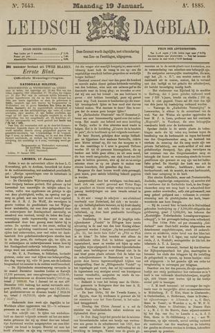 Leidsch Dagblad 1885-01-19