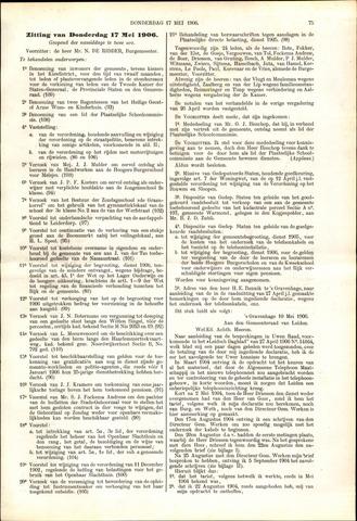 Handelingen van de Raad 1906-05-17