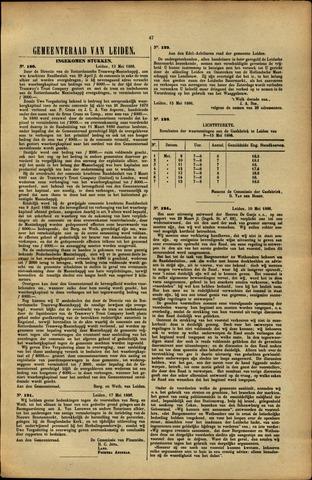 Handelingen van de Raad 1886-05-13