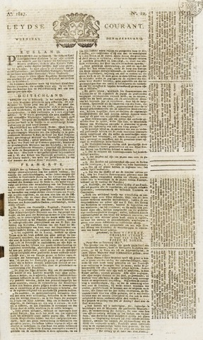Leydse Courant 1817-02-19