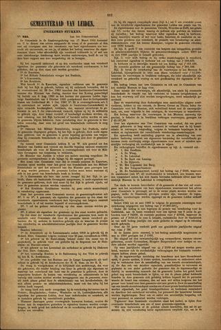 Handelingen van de Raad 1881-11-15
