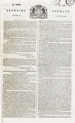 Leydse Courant 1839-02-18