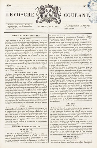 Leydse Courant 1850-03-25